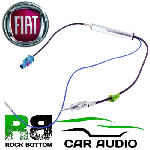 Fiat Bravo 2007 en coche de Radio Estéreo Amplificado fakra-din Aerial antena adaptador