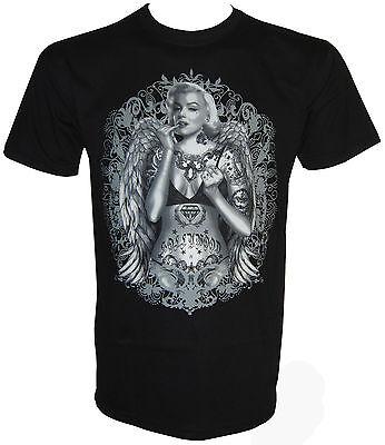 Vintage Tatoo Monroe T-Shirt in Größe S bis 5XL