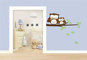 eulen wandtattoo schlummereulen f r m dchen kinderzimmer. Black Bedroom Furniture Sets. Home Design Ideas