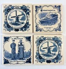 Holland America Line Delft Maritime Coasters Tiles MS Veendam Statendam Westerd
