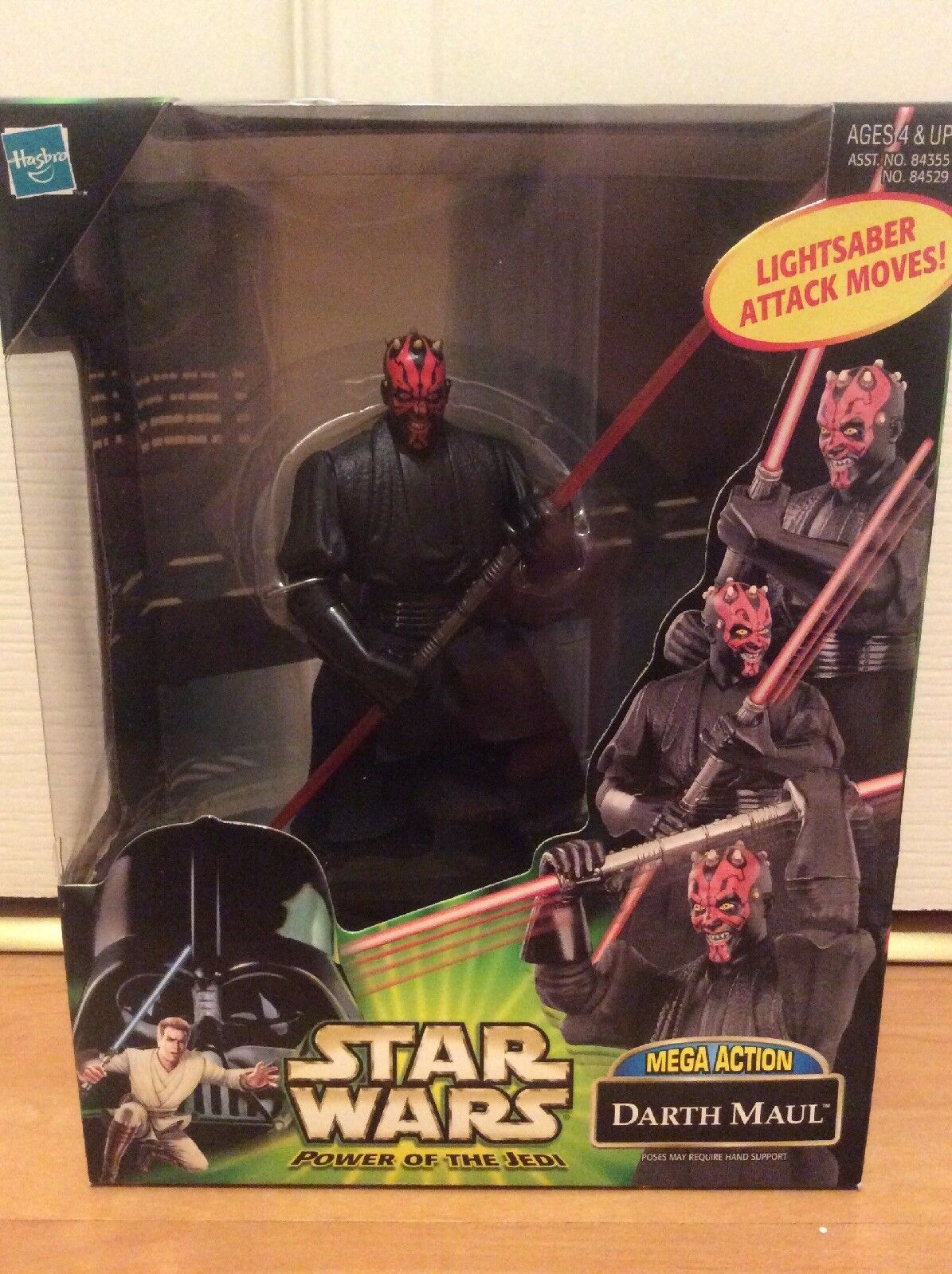 Star Wars Power Of The Jedi Mega Action Darth Maul Sith Action Figure MISB Rare