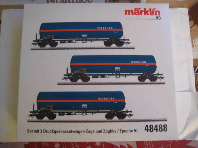 Marklin H0 48488 SBB CFF Pressurized Gas Tank Car in its original box - NIB