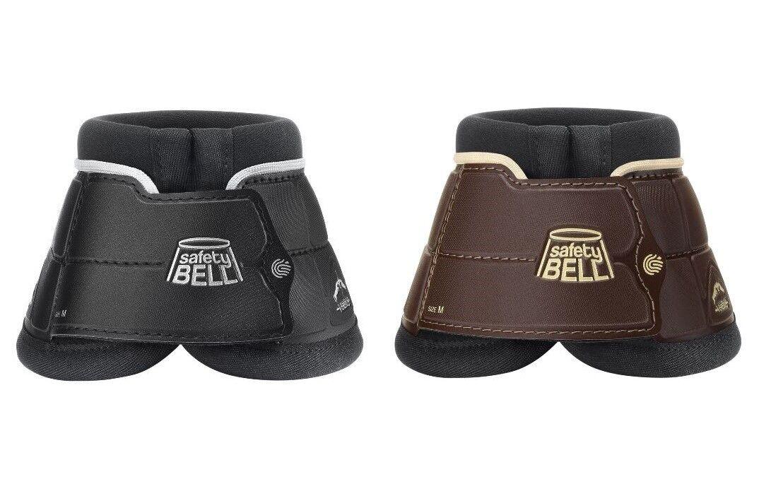 Verojous bota campana de seguridad pro sobre alcance se extralimite showjumping botas Negro Marrón