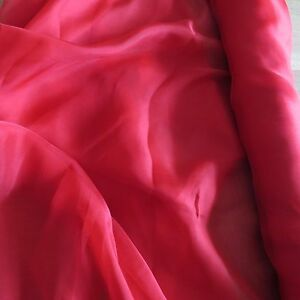MASSIVE-REMNANT-John-Lewis-RED-100-SILK-Smooth-Chiffon-Approx-135cm-x-1-4M