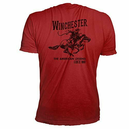 Winchester Official Vintage Rider Graphic Printed Short Sleeve T-Shirt
