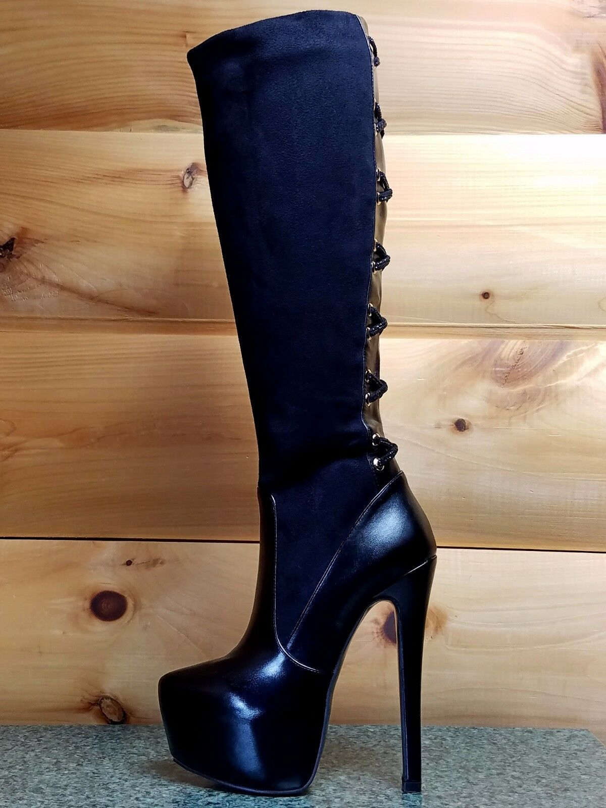 Luichiny Real Lee Black FX Suede and Leatherette  6