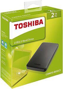 DISCO DURO EXTERNO 2TB 2 TERA TB HARD DRIVE hdd 2.5 USB 3.0 TOSHIBA NUEVO