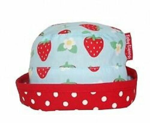FREE P/&P sizes 0-3 Toby Tiger Girls Strawberry Sun Hat 3-6 and 6-12 months
