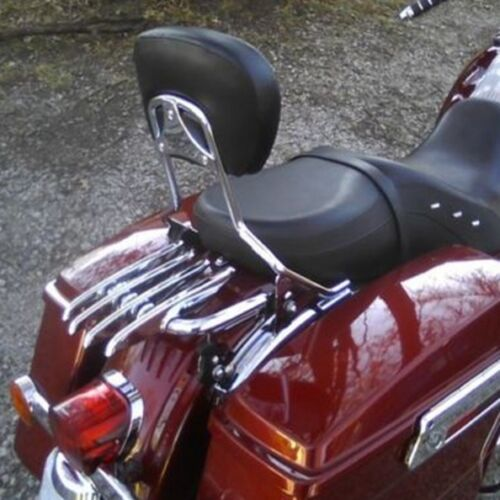 Sissy Bar Backrest Pad For Harley Touring Road King Electra Glide 1997-2018 New