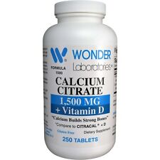 CALCIUM CITRATE 1500 MG + D #15002 - 250 Tablets