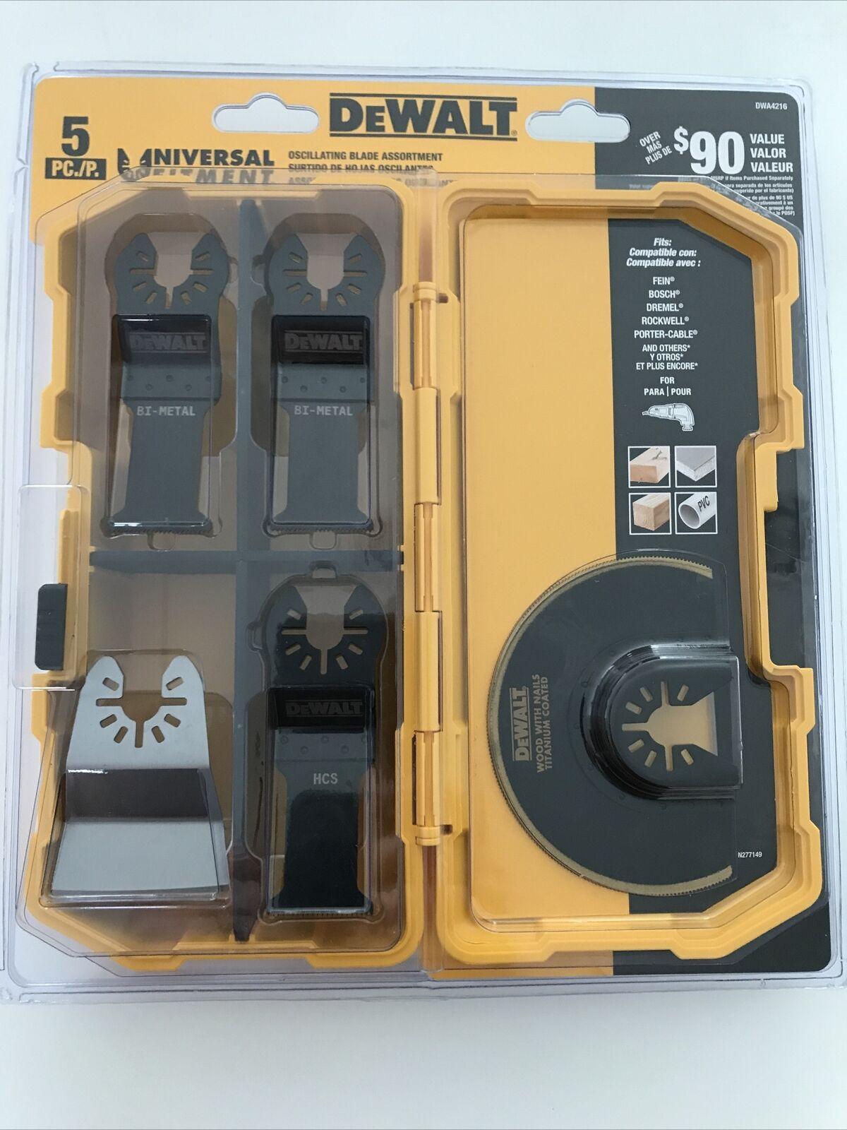 DWA4216 DEWALT 5-pieces oscillating accessory kit