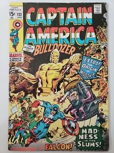 CAPTAIN-AMERICA-133-1970-THE-FALCON-ORIGIN-OF-MODOK-STAN-LEE-GENE-COLAN