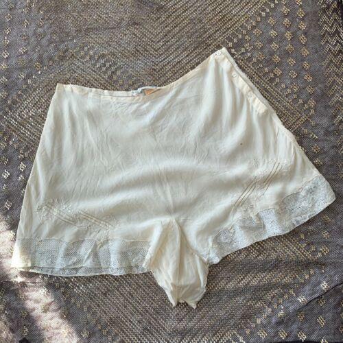 VTG Vintage 30s 1930s Ivory Silk Tap Panties Under