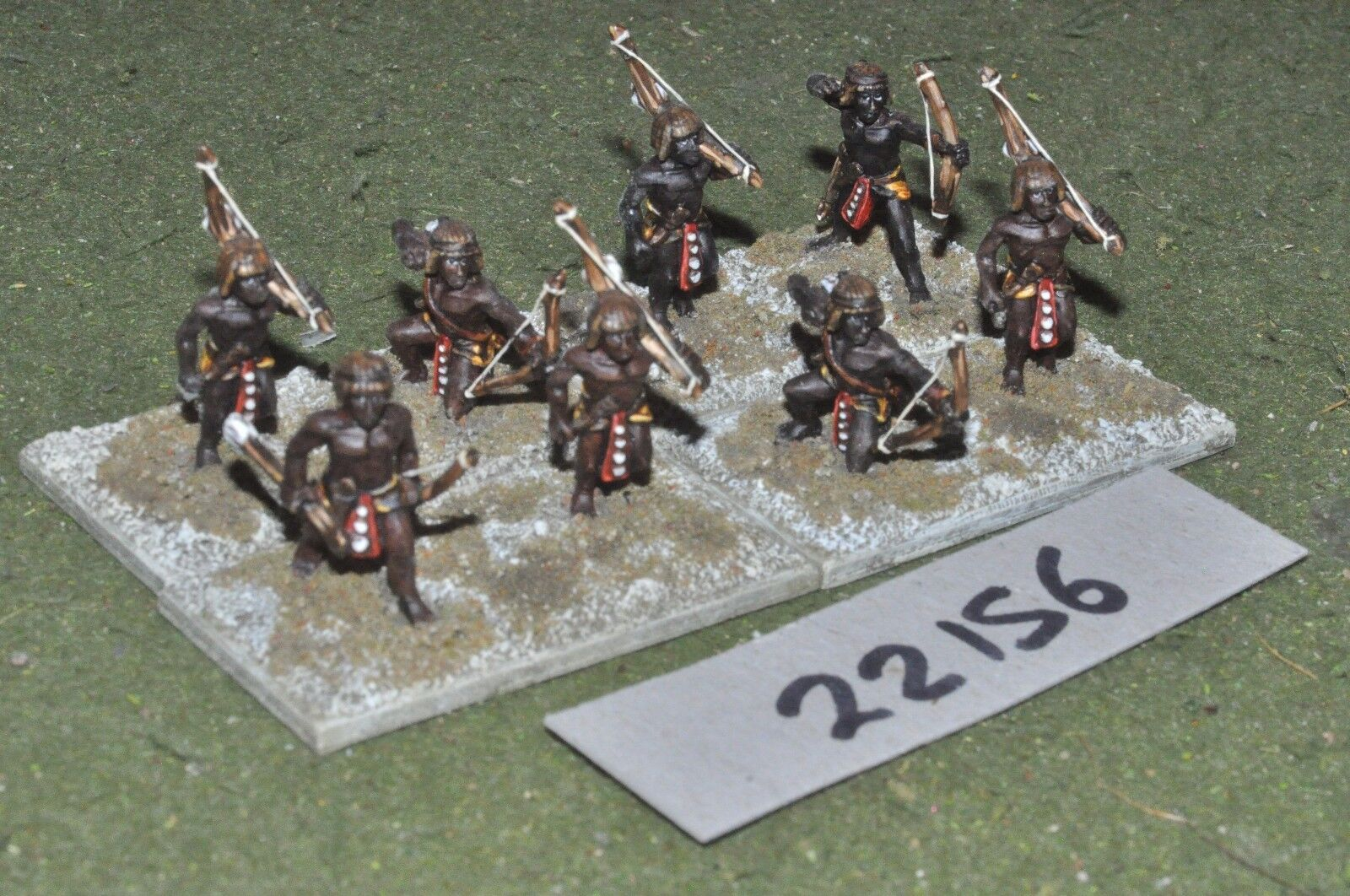 25mm biblical   egyptian - archers 8 figures infantry - inf (22156)
