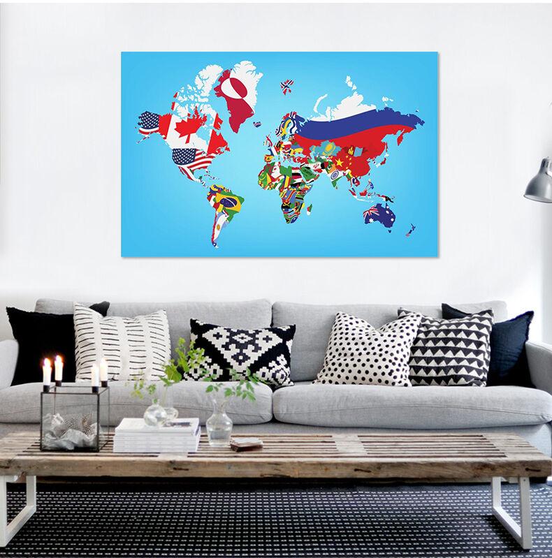 3D Farbige karte 667 Fototapeten Wandbild BildTapete Familie AJSTORE DE