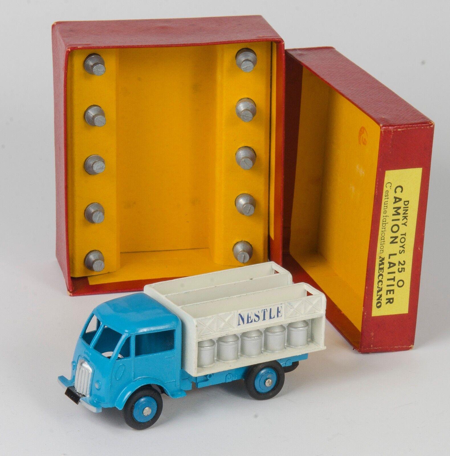 Francés Dinky 25-O Ford cántaras de leche Camión. con Caja. encantadoras. Raro. 1950