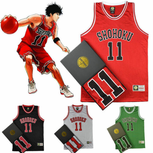 NO.1-15 Japan Anime Slam Dunk Shohoku Basketball Replica Jersey Cosplay Costume