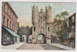 Yorkshire (North) postcard - Micklegate Bar, York - P/U 1906 (A854)