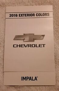 Image Is Loading 2016 Chevrolet Impala Dealership Exterior Color Paint Chart