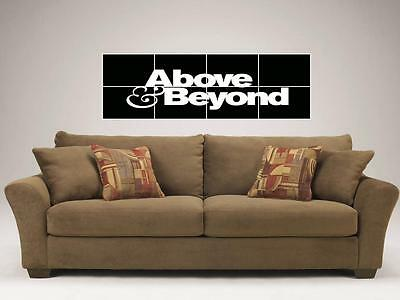 "ABOVE & BEYOND 48""X16"" INCH MOSAIC WALL POSTER DANCE AND ELECTRO TRANCE"