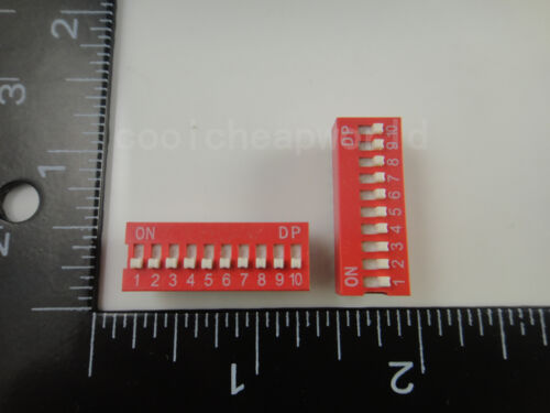 50pcs 10P 10 Position DIP Switch 2.54mm Pitch 2 Row 20 Pin DIP Switch