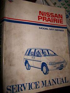 nissan prairie m11 1988 to 1992 service manual ebay rh ebay com Nissan Prairie Rear Seats Nissan Prairie Rear