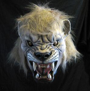 Lion Mascot Lions Big Cat Jungle Animal Adult Latex Halloween Mask