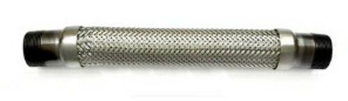 """Flexible exhaust section 15/"""" long x 1.1//2/""""bsp male ends    FLEXEX15MM"""