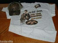 Duck Commander Duck Dynasty Realtree Camo Hat + Large Size T Shirt