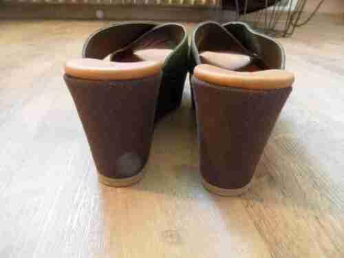 Diego Vert Gr cuir compensées 37 nubuck Piacentini nouveaux Sandales en Bb617 pTwCprq