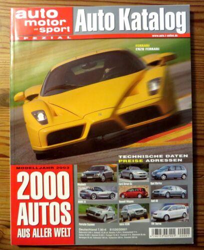 2000 Autos a Concept Cars des Jahres 324 Seiten aller Welt Auto-Katalog 2003