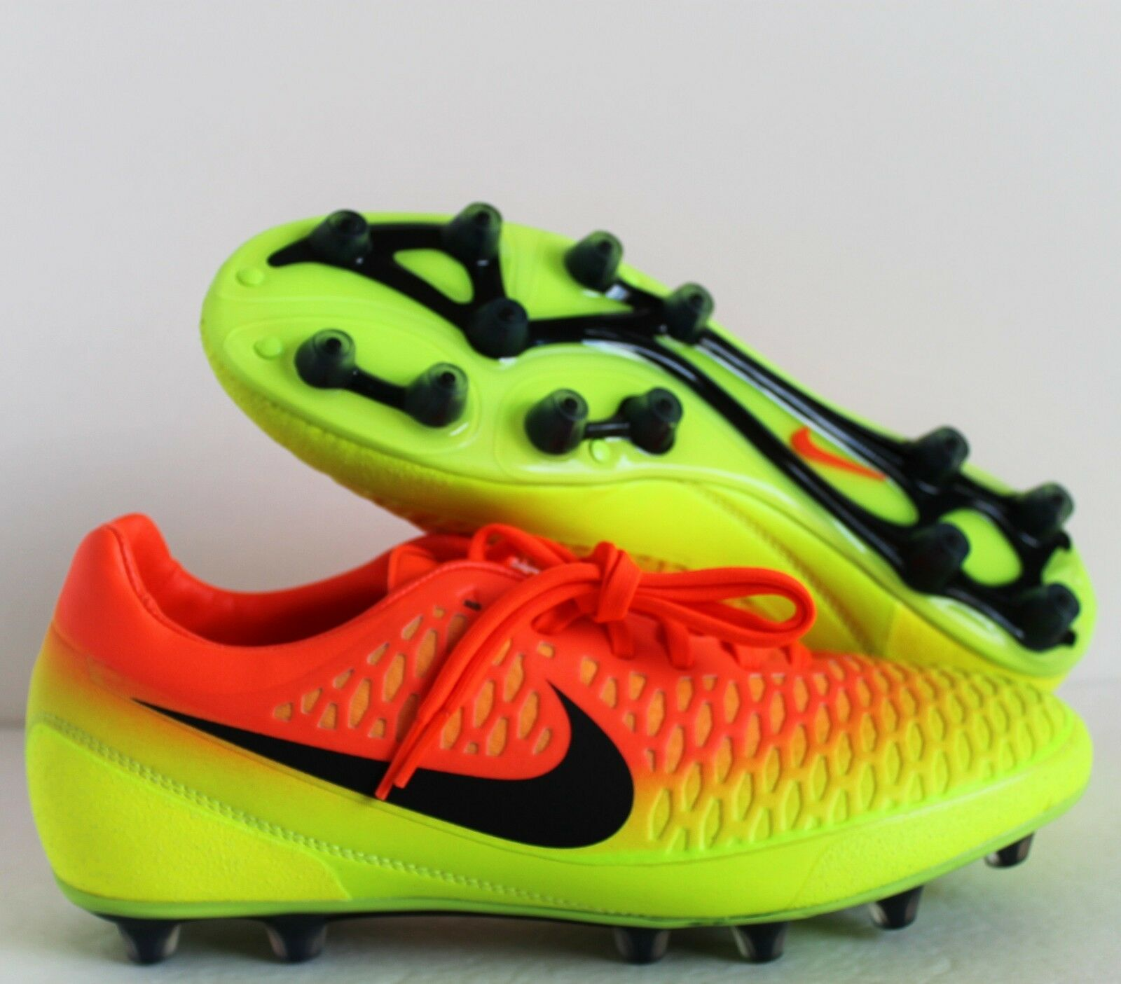Nike Magista Opus HG-E Soccer Cleats Volt-orange-Black sz 9 [649231-807]