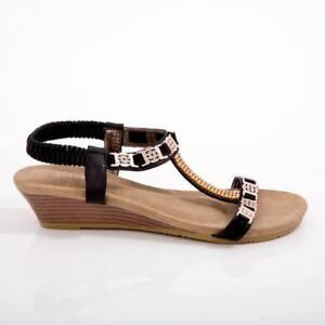 43b5231deb25 Image is loading Women-sandals-wedge-shoes-designer-auyi-ladie-039-