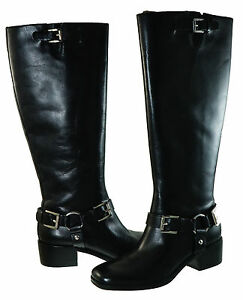 Michael-Kors-Womens-Harrison-Riding-Equestrian-Zipper-Knee-High-Buckle-Boots