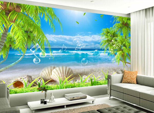 3D Calm Wave Sky Paper Wall Print Decal Wall Wall Murals AJ WALLPAPER GB