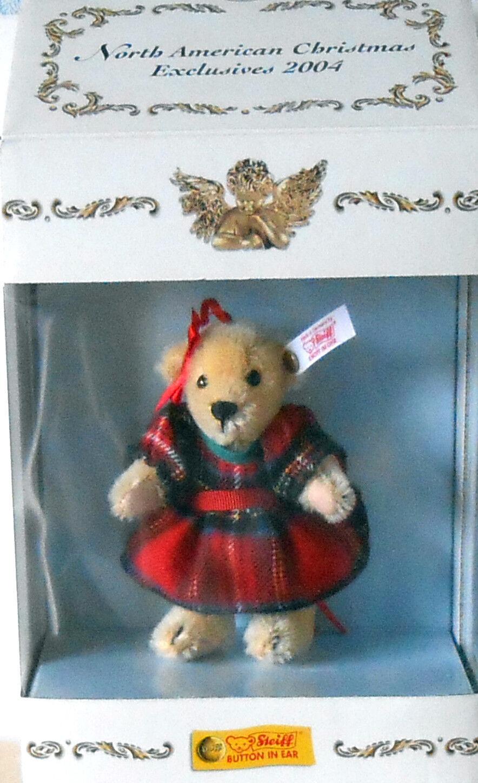 STEIFF 2004  MUFFY 20TH ANNIVERSARY  MOHAIR TEDDY BEAR ORNAUomoT - NWT AND BOX