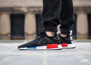 Image is loading Adidas-NMD-XR1-OG-CORE-BLACK-Red-Blue-