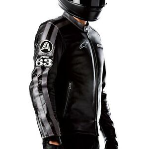 nuovo concetto 9fd57 e43ef Details about Giacca Moto Vintage Alpinestars Velocity Leather Jacket  cod.31072011 tg.M