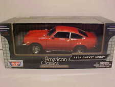 1974 Chevy Vega Coupe Die-cast Car 1:24 by Motormax 7 inch Orange
