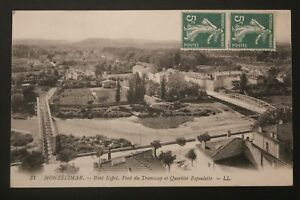 Tarjeta-Postal-Antigua-1912-Montelimar-Puente-Eiffel-Del-Tranvia-Espoulette