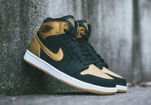 finest selection 07d86 6f978 Image is loading Nike-Air-Jordan-1-Retro-High-Melo-Black-