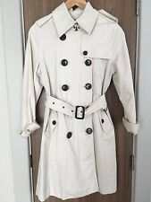 Burberry London Classic Timeless Trench Coat Stone Colour Size S UK 8 - 10