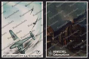 Reklame-Messerschmitt-Bf-109-Augsburg-Luftfahrt-Henschel-Lok-45-002-Bahnhof-1942