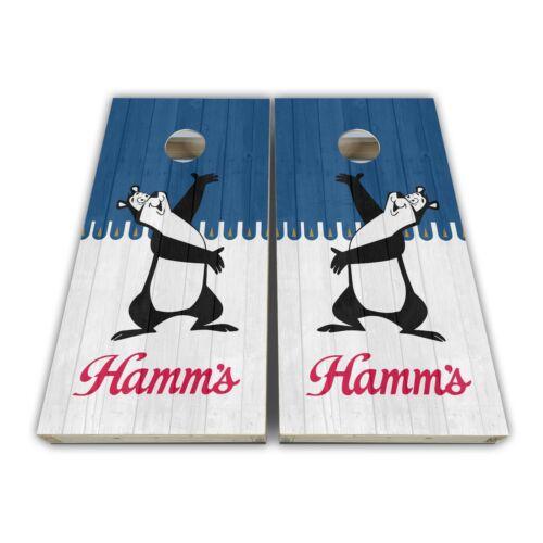 Hamms Beer Hamm Cornhole Baggo Bag Toss 3M Vinyl Skins Wrap Set Laminated