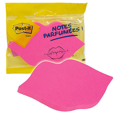 SELF-STICK POST IT NOTES SCENTED FUNKY LIPS NEW!!!