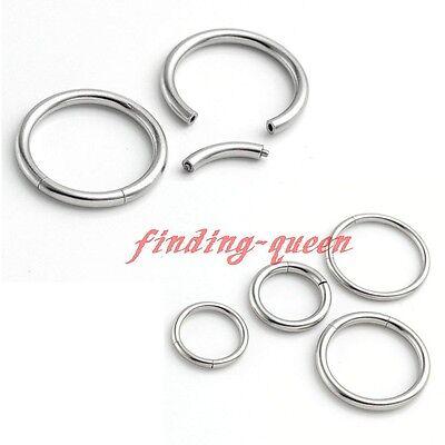 Surgical Steel Hoop Earring Labret Nose Nipple Tragus Captive CBR Segment Rings