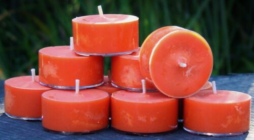 10pk 120hr//pack BLUE SUGAR Triple Scented ORGANIC SOY TEA LIGHT CANDLES gifts
