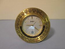 NEIMAN MARCUS vintage Swiss Travel Alarm CLOCK with International Time