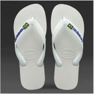 4c0dd811dac881 NIP Havaianas Brasil Logo Kids Flip Flops White Size 9 9.5 (25 26 ...