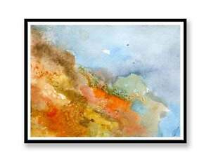 Orange-Abstract-landscape-abstract-painting-unique-gift-Print-ID-381